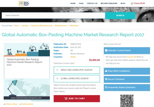 Global Automatic Box-Pasting Machine Market Research Report'