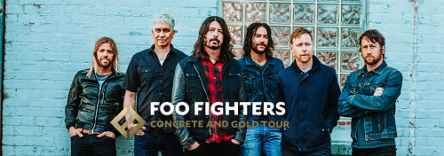 Foo Fighters Concrete and Gold Tour Concert Tickets'
