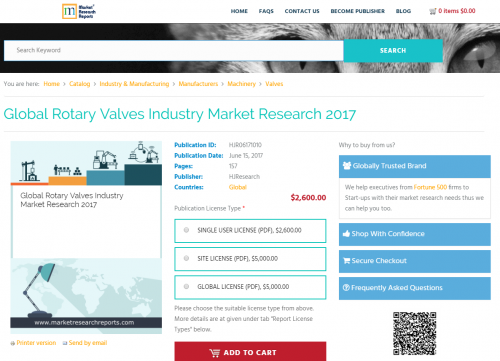 Global Rotary Valves Industry Market Research 2017'