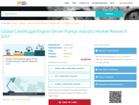 Global Centrifugal Engine-Driven Pumps Industry Market