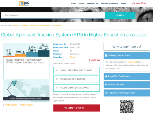 Global Applicant Tracking System (ATS) In Higher Education'