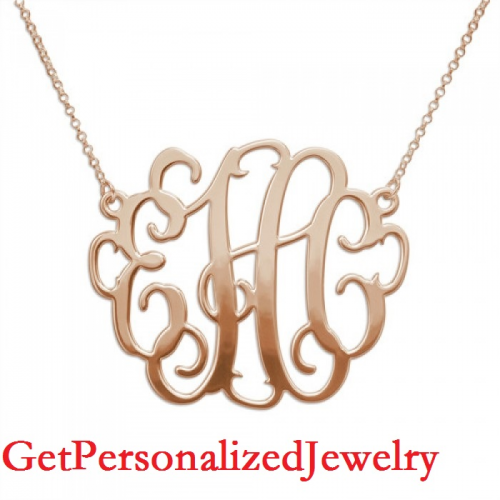High-End Selection of Hand-Made Monogram Necklaces and Name'