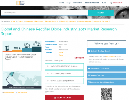 Global and Chinese Rectifier Diode Industry, 2017 Market'