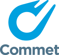 Commet logo (vertical)