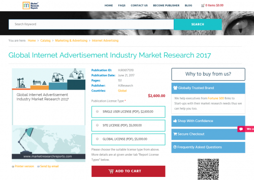 Global Internet Advertisement Industry Market Research 2017'