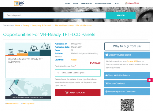 Opportunities For VR-Ready TFT-LCD Panels'