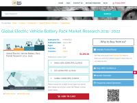 Global Electric Vehicle Battery Pack Market Research 2011