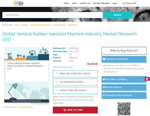 Global Vertical Rubber Injection Machine Industry Market'