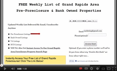 Grand Rapids foreclosures are a sound investment.'