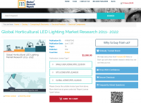 Global Horticultural LED Lighting Market Research 2011-2022