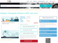 Epilepsy Therapeutic Market in APAC 2017 - 2021