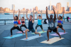 A group of yogis practicing on the beautiful Artletica yoga'