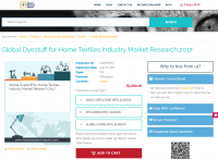 Global Dyestuff for Home Textiles Industry Market Research