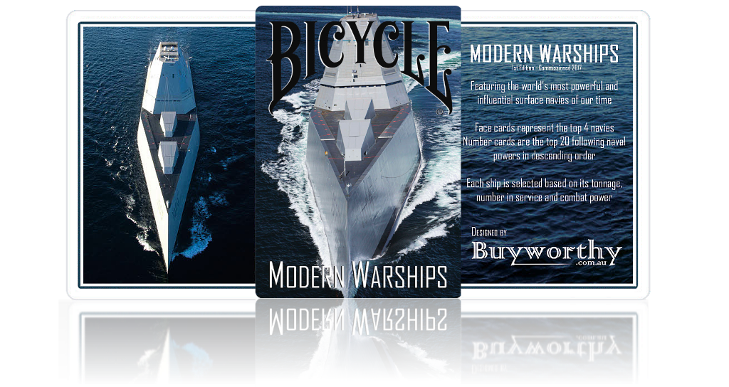 Modern Warships Playing Cards Front