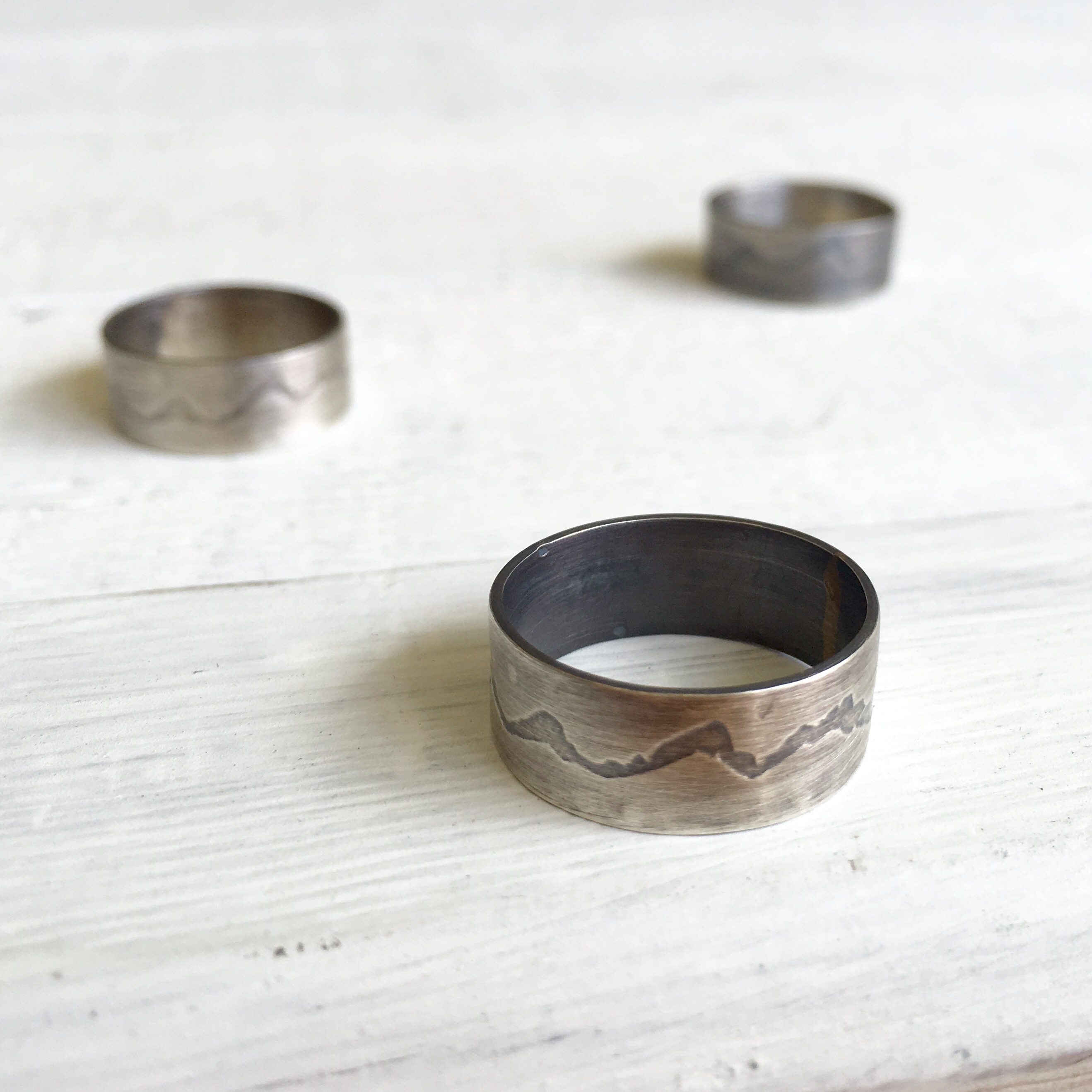 The Teton Ring in Oxidized Silver Hattie Rex