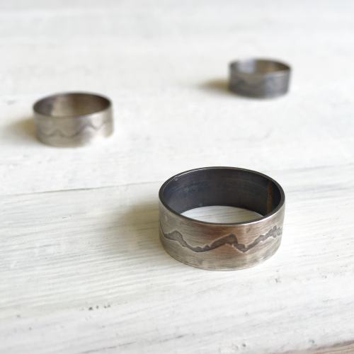 The Teton Ring in Oxidized Silver Hattie Rex'