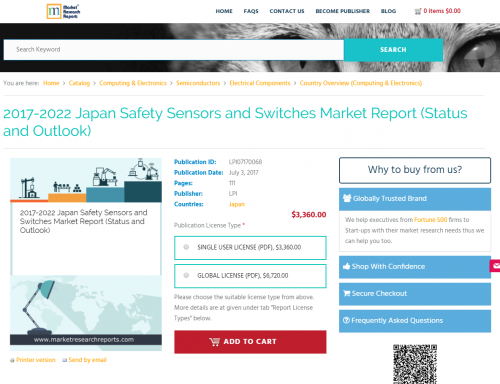 2017-2022 Japan Safety Sensors and Switches Market Report'