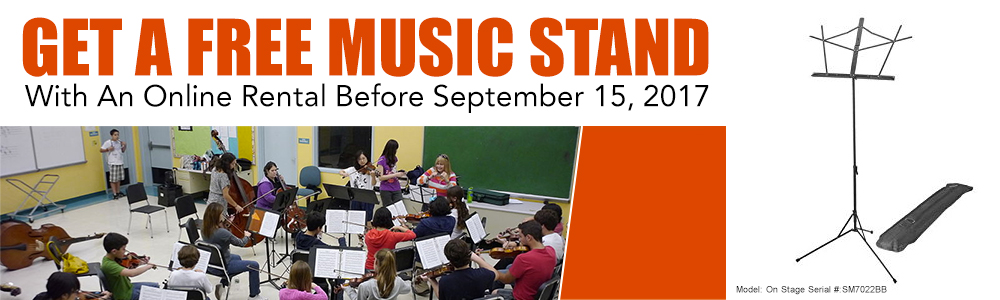 Get a Free Music Stand From Rayburn Music