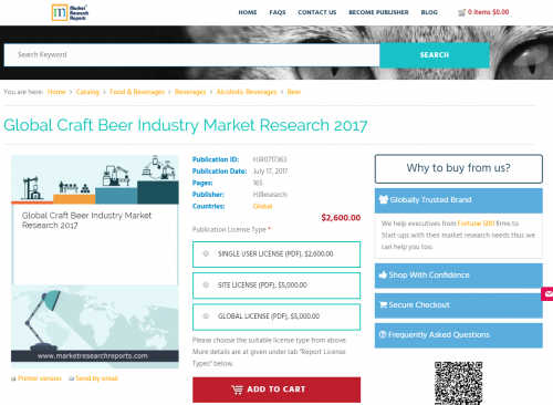 Global Craft Beer Industry Market Research 2017'