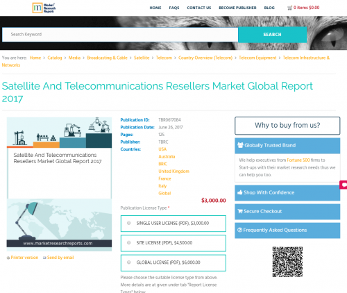 Satellite And Telecommunications Resellers Market Global'
