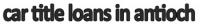 Car Title Loans in Antioch Logo