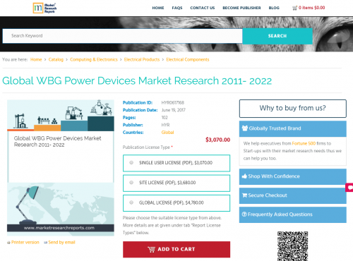 Global WBG Power Devices Market Research 2011 - 2022'