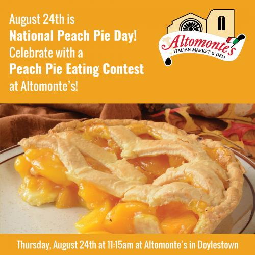 Peach Pie Eating Contest at Altomonte's Doylestown!'