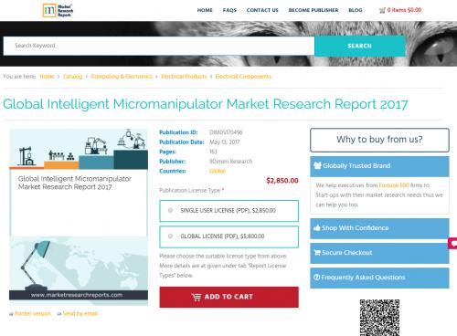 Global Intelligent Micromanipulator Market Research Report'