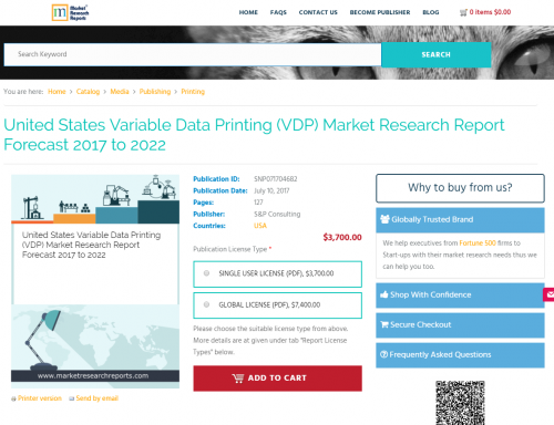 United States Variable Data Printing (VDP) Market Research'