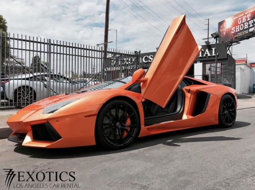 Lamborghini Aventador Rental By 777 Exotics'