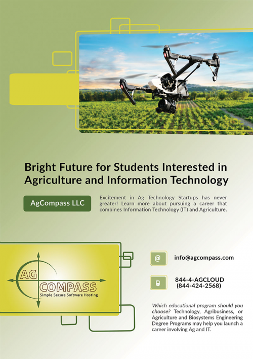 BRIGHT FUTURE FOR STUDENTS INTERESTED IN AGRICULTURE AND INF'