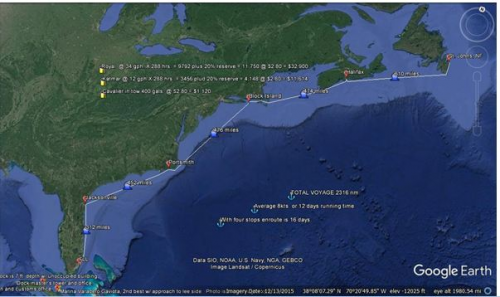 All 3 ferries made the 2,500-mile voyage on their own bottom'