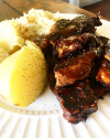Succulent Vegan Ribs from Nick's Kitchen in Daly City,'