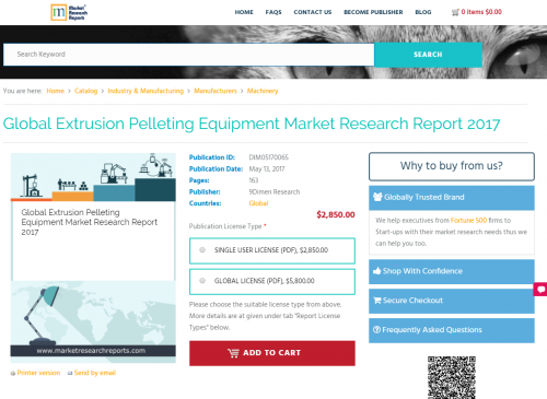 Global Extrusion Pelleting Equipment Market Research Report'