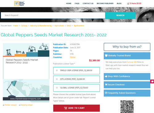 Global Peppers Seeds Market Research 2011 - 2022'
