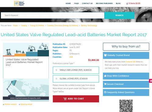 United States Valve Regulated Lead-acid Batteries Market'