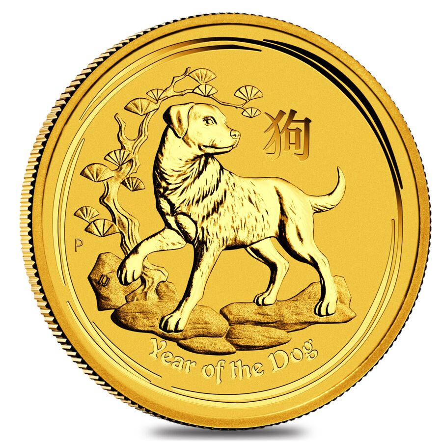 Lunar series Gold Year of the Dog