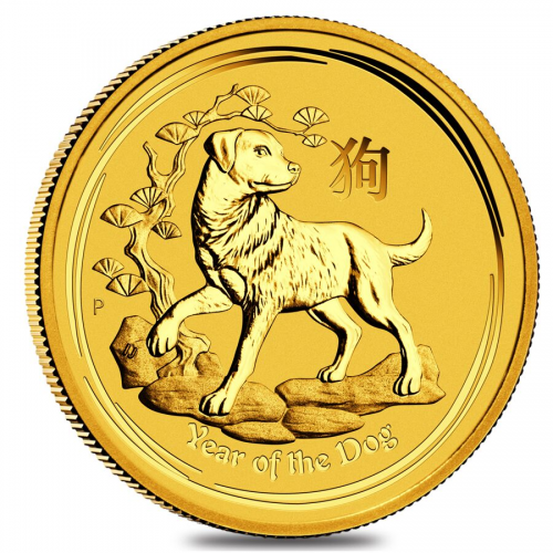Lunar series Gold Year of the Dog'