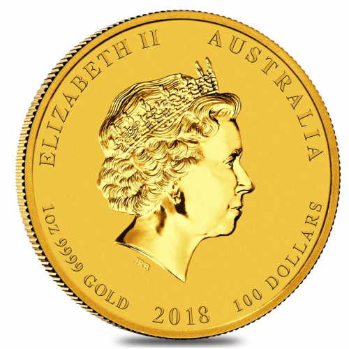 Lunar series Gold Year of the Dog Back'