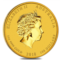 Lunar series Gold Year of the Dog Back