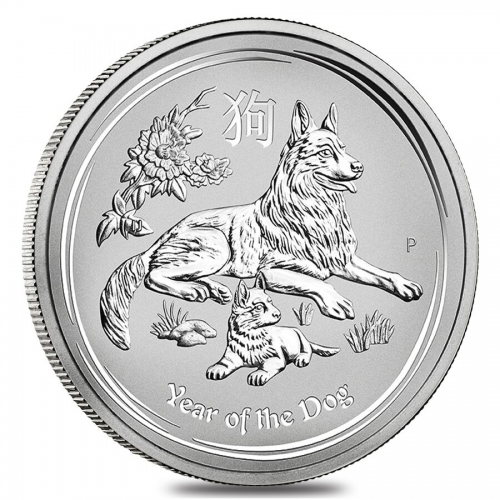 Lunar series Silver Year of the Dog'