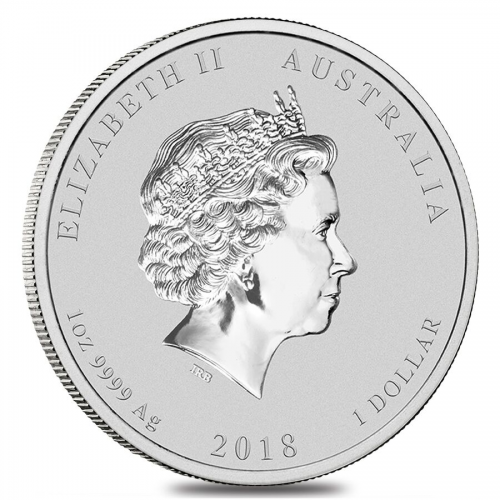 Lunar series Silver Year of the Dog Back'