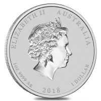 Lunar series Silver Year of the Dog Back