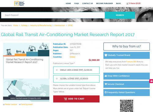Global Rail Transit Air-Conditioning Market Research Report'