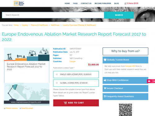 Europe Endovenous Ablation Market Research Report Forecast'
