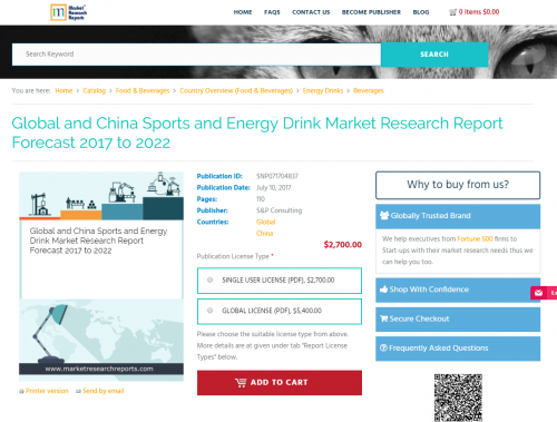 Global and China Sports and Energy Drink Market Research'