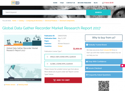 Global Data Gather Recorder Market Research Report 2017'