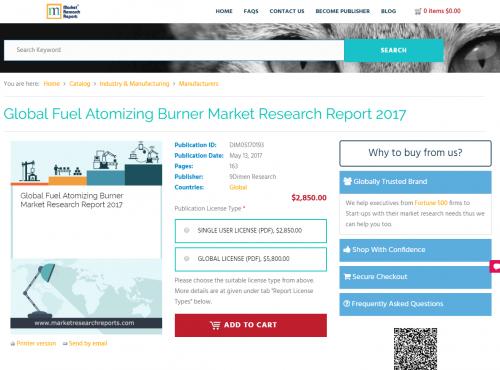 Global Fuel Atomizing Burner Market Research Report 2017'