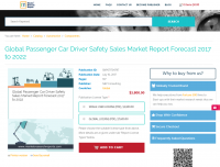 Global Passenger Car Driver Safety Sales Market Report