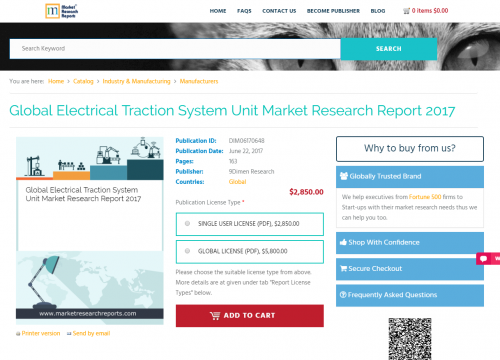Global Electrical Traction System Unit Market Research'